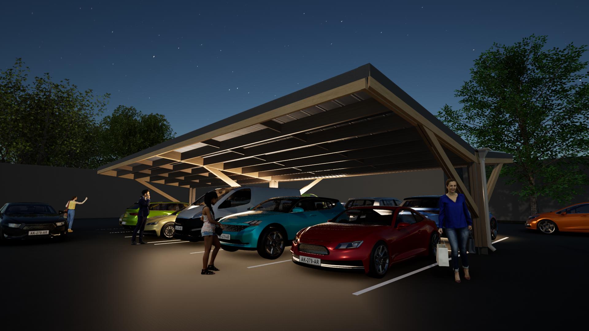 Timber carpark 8