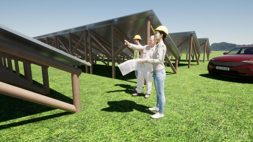 Solar Farm Timber Support Frames